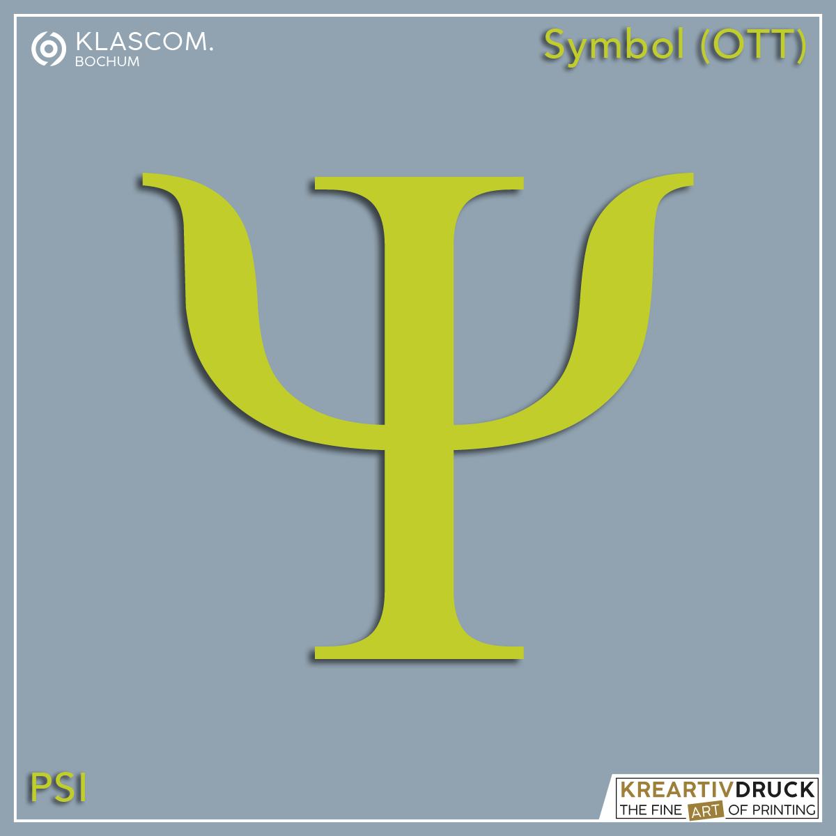 Symbol Psi in Wunschfarbe